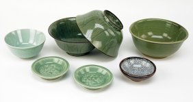 A Group Of 20th Century Korean And Chinese Celadon