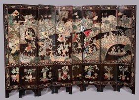 A Chinese Coromandel Eight-panel Screen.