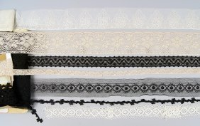 A Collection Of Vintage Lace And Trims.