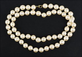 A Chanel Strand Of Faux Pearls.