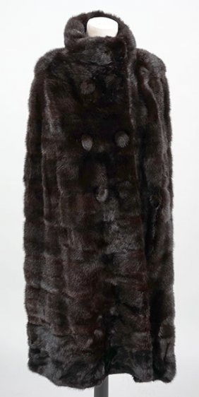 A Black Mink Cape.
