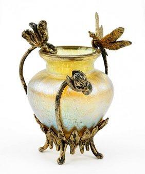 A Loetz Iridescent Glass Vase.