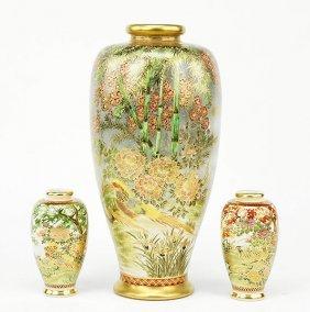 A Satsuma Porcelain Vase.