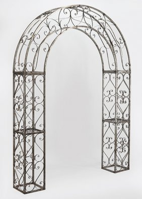 A Patinated Metal Arbor.