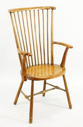 A 19th Century English Windsor Chair.