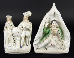 Two 19th Century Staffordshire Pottery Figures.