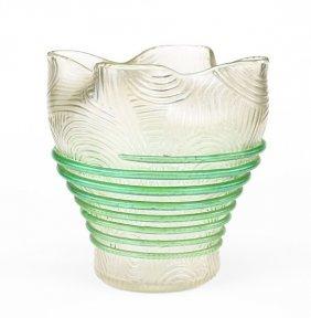 An Art Nouveau Iridescent Glass Bowl.