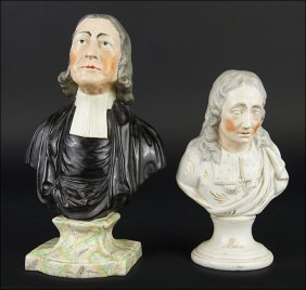 A 19th Century Staffordshire Pearlware Pottery Bust Of