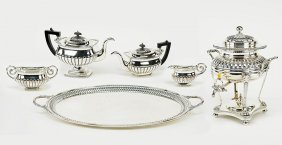 An Assembled English Silverplate Tea And Coffee