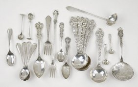 A Set Of Six American Sterling Silver Soup Spoons.
