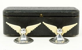 A Pair Of English Silver Table Ornaments.