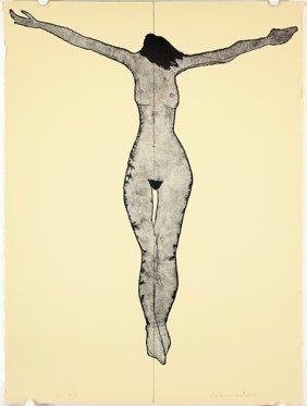 Fritz Scholder (american, 1937-2005) Title Unknown.