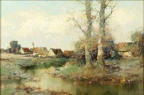 Willi Bauer (german, B. 1923) Autumn Landscape.