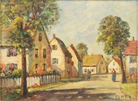 Frances H. Mckay (american, 1880-?) The Village End.