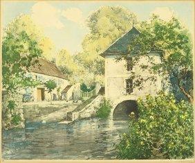 Paul Emile Lecomte (french, 1877-1950) Maison Du