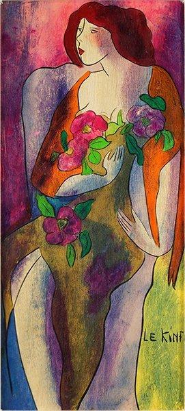 Linda Lekinff (french, B. 1949) Rosaline.