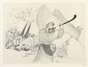 Al Hirschfeld (american, 1903-2003) John Huston As Noah