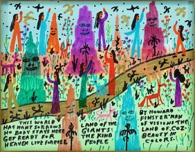 Howard Finster (american, 1916-2001) The Land Of Coz -