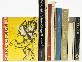 A Collection Of Books On Marc Chagall.