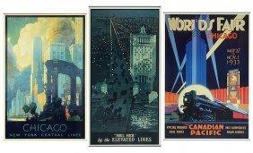 Three Chicago Railway Posters.