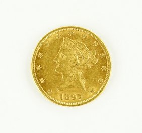 An 1897 Liberty Head Coin.