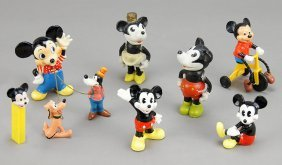Two Japanese Mickey And Minnie Mouse Figures.