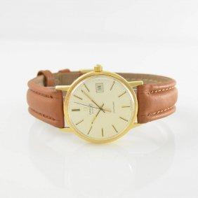 Omega 18k Yellow Gold Wristwatch Seamaster