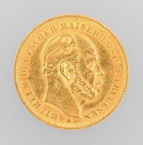 Gold Coin 20 Mark, German Empire 1884