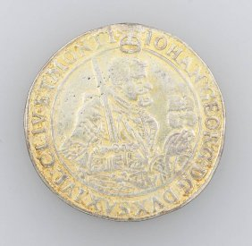 Silver Coin, 1 Taler, Saxony, 1645