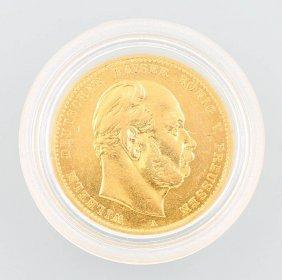 Gold Coin, 10 Mark German Empire 1880