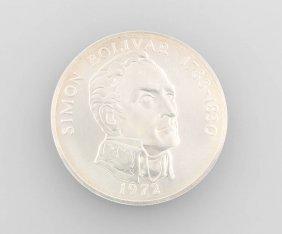 Silver Coin 20 Balboas 1972
