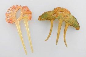 2 Haircombs, Art Nouveau