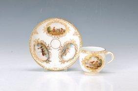 Cup With Saucer, Meissen, Around 1880