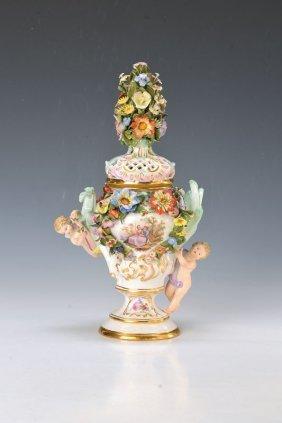 Potpourri Vase, Meissen, Around 1890