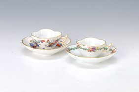 Two Cups With Saucers, Meissen