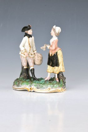 Porcelain Group, Frankenthal, Dat.(17)77