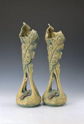 Pair Of Vases, Eichwald, Around 1900