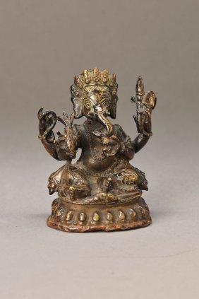 Bronze Sculpture Of Ganesha