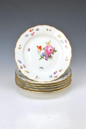 6 Plates, Meissen, 1890