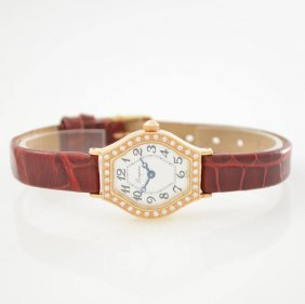 Longines 18k Pink Gold Ladies Wristwatch