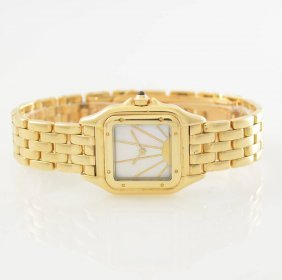 Cartier Panthere 18k Yellow Gold Ladies Wristwatch