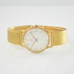 Certina 14k Yellow Gold Gents Wristwatch With 18k