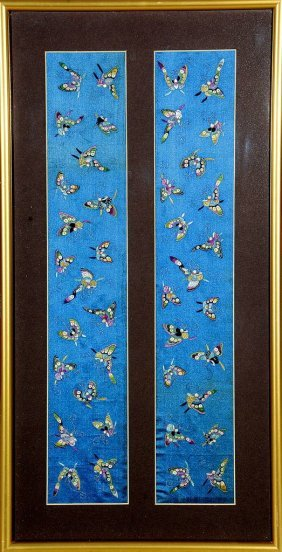 Silk Embroidery 'butterflys',