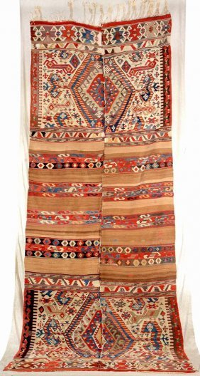 Aydin 'kilim' With Camel-hair (camel-saddle),