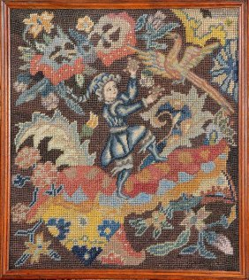 Petit-point 'embroidery' (the Juggler),