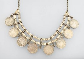 Necklace With Coins, India Approx. 1920, Indian