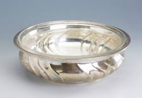 Bowl With Glass Insert, Silver 830