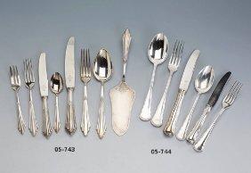 Wmf Table Service, Fan Decor, 90 Silver Coating