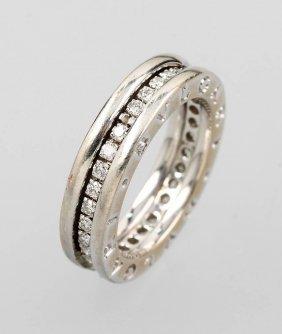 18 Kt Bulgari Gold Ring With Brilliants
