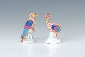 Two Figurines, Herend, 2.h.20th